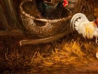 chicken yard by otto scheuerer
