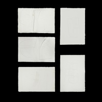 cast paper (set of 5 works) by romulo olazo