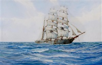 the ship minnie achten at sea by montague dawson