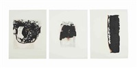 combustione 1-6 (set of 6) by alberto burri
