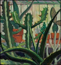 cacti / plants (verso) by nora frances elisabeth collyer