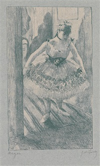 entrée en scène (from quinze lithographies) by edgar degas