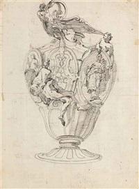 etude d'un vase orné de figurines (recto); frises sculptées (verso) by giovanni battista tiepolo