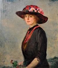portrait of a woman by augustus vincent tack