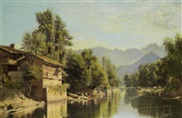river valleys in kashmir (pair) by frederick william john shore