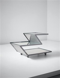 z' drinks trolley, from the 'unicum' series by gabriella crespi