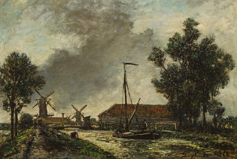 la passerelle hollande by johan barthold jongkind