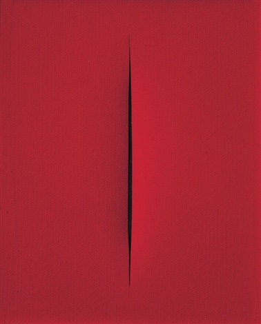 concetto spaziale attesa ce soir fait froid by lucio fontana