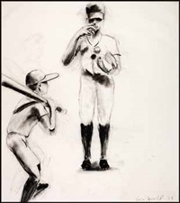 study for boys at bat by eric fischl