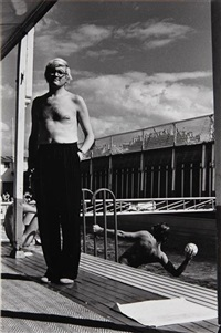 david hockney, piscine royale, paris (from 15 photographs) by helmut newton