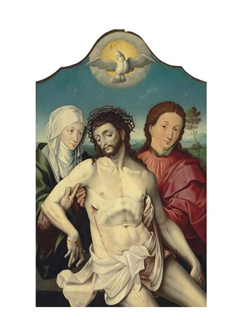 the dead christ supported by the virgin and saint john the evangelist by the pseudo-lombard