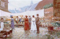 market scene by c. james frazier