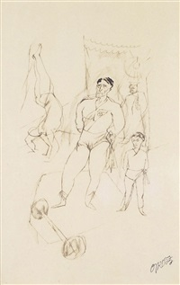 les acrobates by george grosz