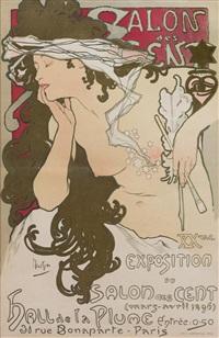 salon des cents/xxeme exposition by alphonse mucha