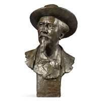 bust of william frederick buffalo bill cody by jean georges pierre achard