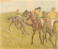 avant la course by edgar degas