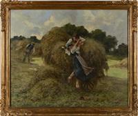 la descente de la charrette de foin by eugène labitte