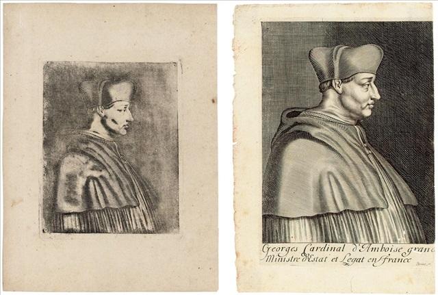 cardinal damboise engraving of same 2 works by joseph nicephore niepce