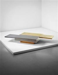 rare 'dama' extendable coffee table by gabriella crespi