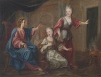 cristo in casa di marta e maria by domenico corvi