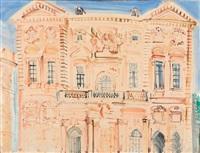 la façade de l'hôtel de ville de marseille by raoul dufy