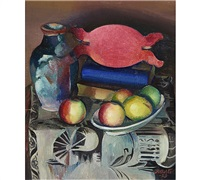 still-life with fruit by ilmari aalto