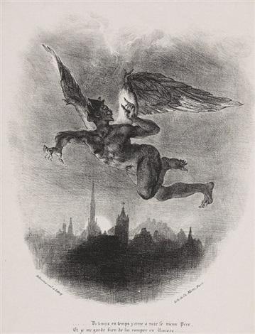 méphistophélès dans les airs by eugène delacroix