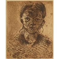 tête de jeune fille by paul cézanne