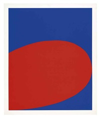 red/blue (untitled) (from ten works x ten painters) by ellsworth kelly