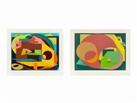 scholes i and ii (2 works) by al held