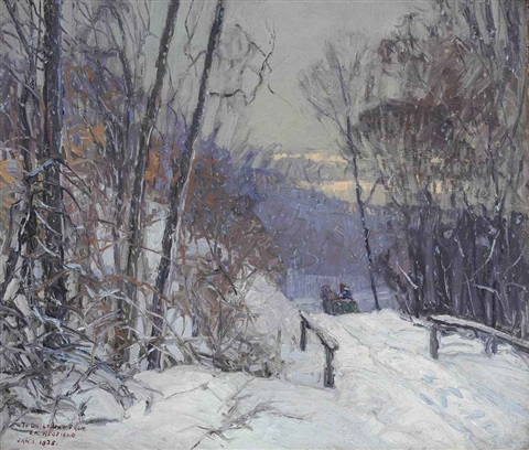 winter scene by edward willis redfield
