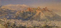 vue de l'alhambra a grenade by angelos giallina