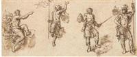 quatre études de figure by abraham van diepenbeeck