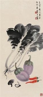 蔬果图 镜片 纸本 by huang junbi
