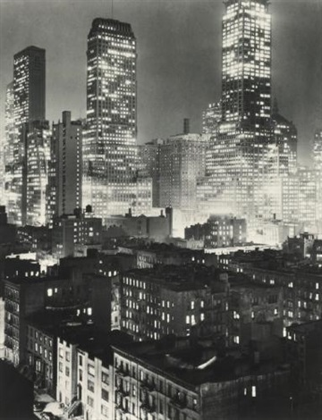selected night views (2 works) by andreas feininger