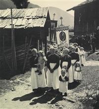 prozession in tirol, im wienerwald (2 works) by rudolf koppitz