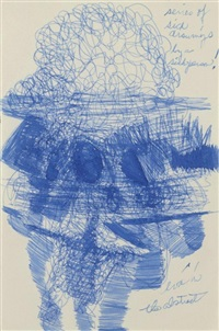 eva in the abstract (from the series sick drawings by a sick person!) by eva hesse