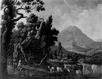 paysage de savoie by robert-joseph auguste