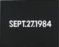 sept. 27, 1984 by on kawara