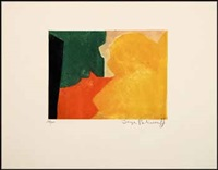 composition verte, rouge et orange by serge poliakoff