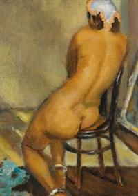 femme nue de dos aux bracelets de cheville (nude from back with ankle bracelets) by mahmoud said