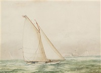 "the sloop ""genesee"" by william wallace armstrong"