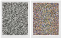 50:50 random (fine); and a half times a half times a half (coarse) (2 works) by tauba auerbach