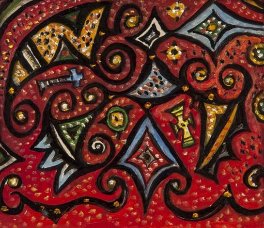 beginnings of a prayer pattern by alan davie