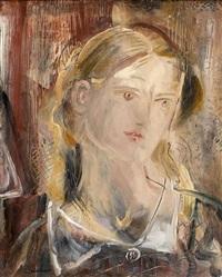 portrait de jeune fille by giorgios (gounaro) gounaropoulos