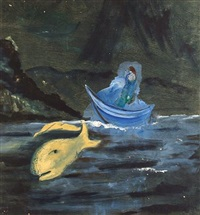 boat with fish by charles s. (pic) higgins