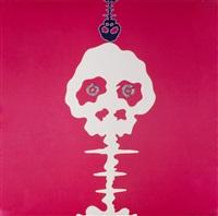 mushroom bomb, pink; hawks and doves 2 by takashi murakami