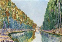 canal st. martin by gaston domergue