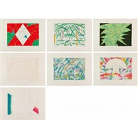 the birth of land (set of 7) by jiro takamatsu