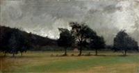 la prairie de cormonvillers par temps de pluie by antoine chintreuil